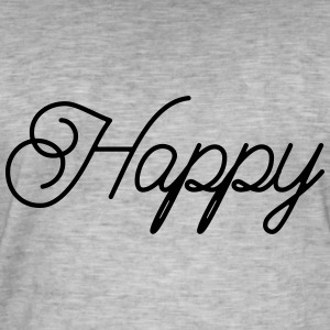 happy - Men's Vintage T-Shirt
