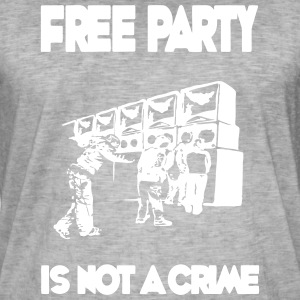 Freeparty is geen misdaad - Mannen Vintage T-shirt