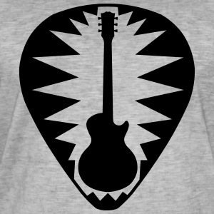 guitar pick les paul star - Mannen Vintage T-shirt