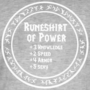 Runeshirt of Power - Männer Vintage T-Shirt