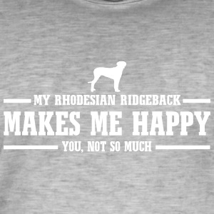 RHODESIAN RIDGEBACK makes me happy - Men's Vintage T-Shirt