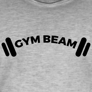 gym Beam - Vintage-T-skjorte for menn