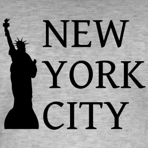 New York by - Vintage-T-skjorte for menn