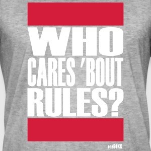 Who cares bout rules - Männer Vintage T-Shirt