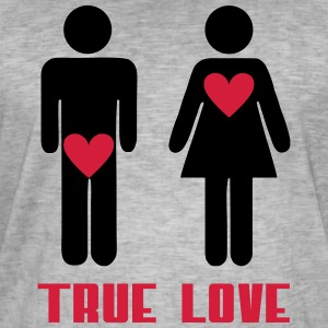true love - Men's Vintage T-Shirt