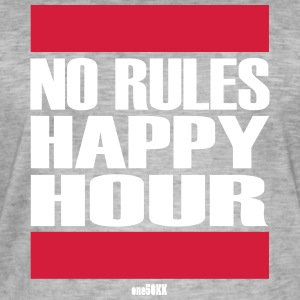 No Rules Happy Hour - T-shirt vintage Homme