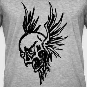 Flying Skull - Vintage-T-shirt herr