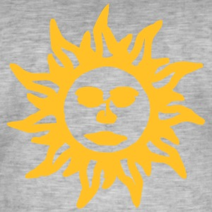 086 orange sun - Men's Vintage T-Shirt