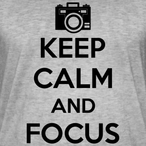 Keep Calm and Focus Photography - Men's Vintage T-Shirt