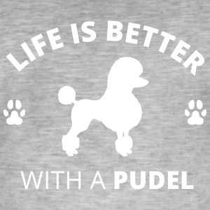 Poodle - Life Is Better With A Poodle - Men's Vintage T-Shirt
