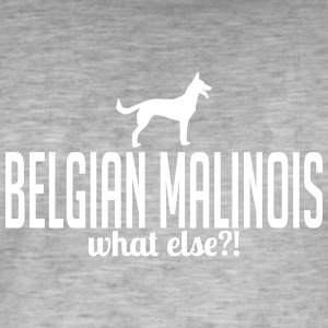 Malinois whatelse - Vintage-T-shirt herr