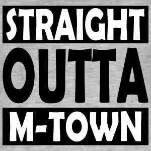 Straight Outta M-Town - Vintage-T-shirt herr
