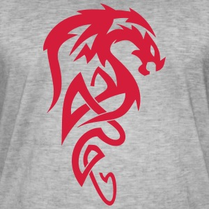 Tribal Dragon - Vintage-T-shirt herr