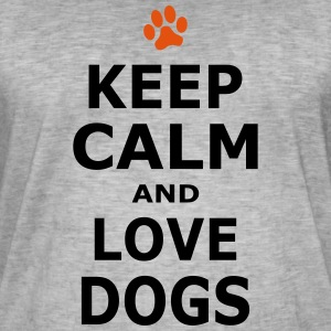 KEEP CALM AND LOVE DOGS - Pfotenabdruck - Men's Vintage T-Shirt