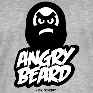 BARBE ANGRY - T-shirt vintage Homme