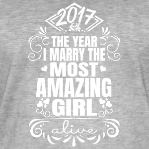 Wedding / Engagement 2017 - Beste Vrouw - Mannen Vintage T-shirt