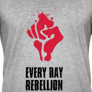 Rebellion fight Faust red blood every day revolutio - Men's Vintage T-Shirt