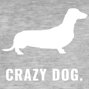 Dackel - Crazy Dog - Männer Vintage T-Shirt