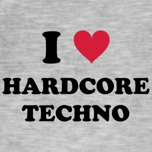 I LOVE HARD-CORE TECHNO - Men's Vintage T-Shirt
