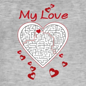 Heart labyrinth - Men's Vintage T-Shirt