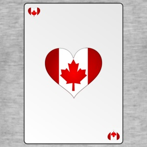 Card Canada Heart Ass Heart - Men's Vintage T-Shirt