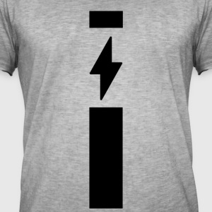 Lightning med strip - Herre vintage T-shirt