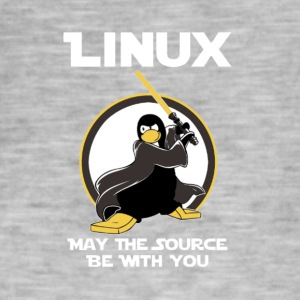may_the_linux_source - T-shirt vintage Homme