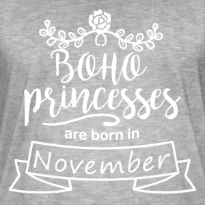 Boho Princesses are born in November - Men's Vintage T-Shirt