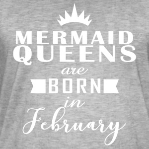 Mermaid Queens February - Men's Vintage T-Shirt
