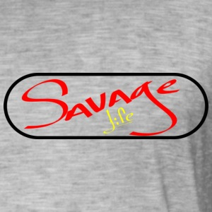 Savage Life - Men's Vintage T-Shirt