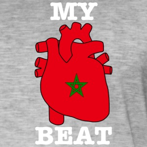 Morocco Marokko المغرب MY HEART BEAT - Männer Vintage T-Shirt