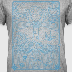 Old school tattoo - Mannen Vintage T-shirt