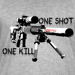 Sniper ONe KILL ONe Shot - Men's Vintage T-Shirt