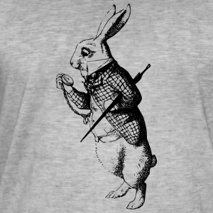 white Rabbit - T-shirt vintage Homme