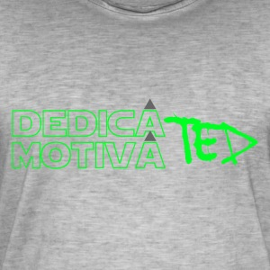 Motivated & Dedicated green - Vintage-T-shirt herr