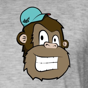 Cartoon Monkey - Men's Vintage T-Shirt