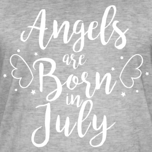 Angels are born in July - Men's Vintage T-Shirt