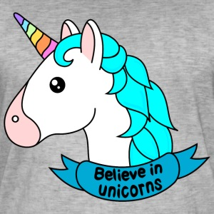 Believe in unicorns - Männer Vintage T-Shirt