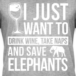 I just want to drink wine and save elephants shirt - Men's Vintage T-Shirt