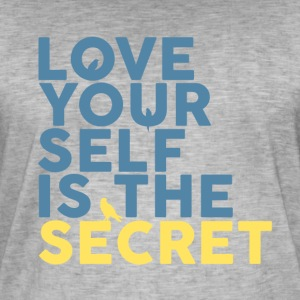 The Secret Is Love Yourself - Mannen Vintage T-shirt