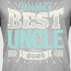 Familien Geschenk Shirt: World's best Uncle ever - Männer Vintage T-Shirt