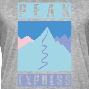 Peak Express - Vintage-T-skjorte for menn