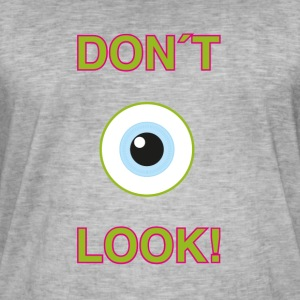 Dont Look! - T-shirt vintage Homme