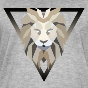 polygon lion - Vintage-T-shirt herr