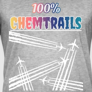 100 Chemtrails - Not Contrails - Men's Vintage T-Shirt