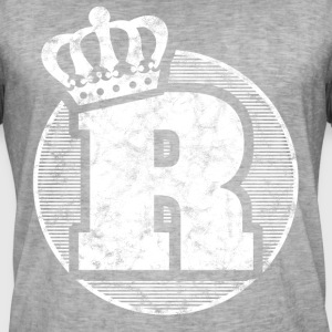 Stylish letter R with crown - Men's Vintage T-Shirt