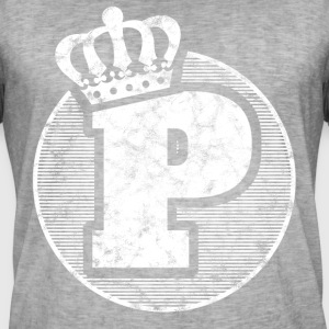 Stylish letter P with crown - Men's Vintage T-Shirt
