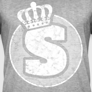 Stylish letter S with crown - Men's Vintage T-Shirt