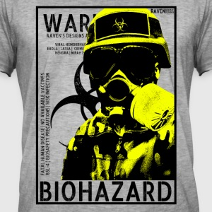 Yellow Biohazard gas BSL4 - Mannen Vintage T-shirt