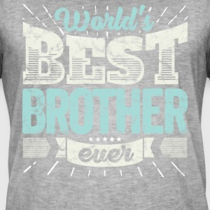 Familien Geschenk Shirt: World's best Brother ever - Männer Vintage T-Shirt